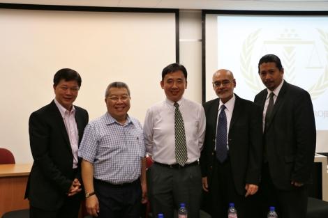 From left to right: Mr Jon Ong, Professor Kevin Tan,District Judge Christopher Goh,Mr Amolat Singh andMr Josephus Tan